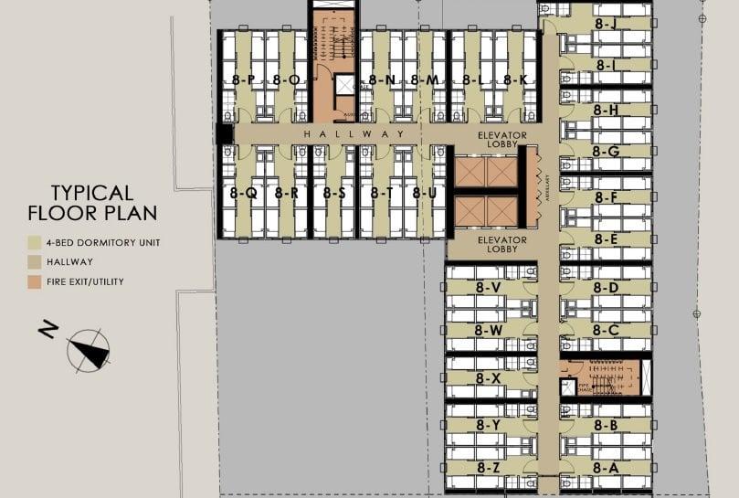Harvard Suites - Typical Floor Plan