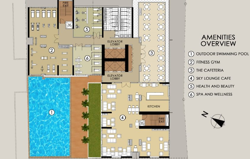 Harvard Suites - Amenities Floor Plan