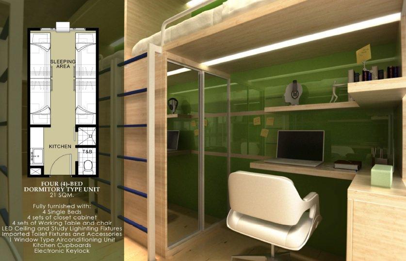 Harvard Suites - Dormitory Type Unit