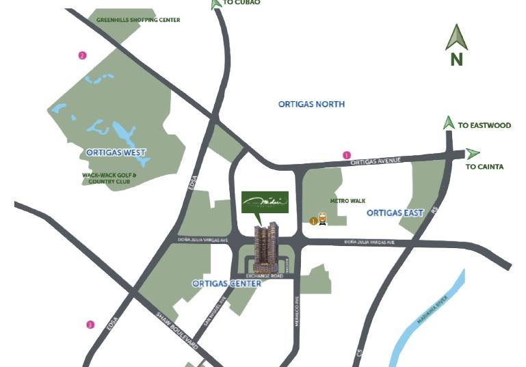 Grand Midori Ortigas - Location Map