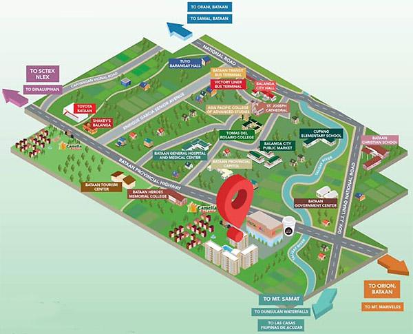 The Camden Bataan COHO - Location Map