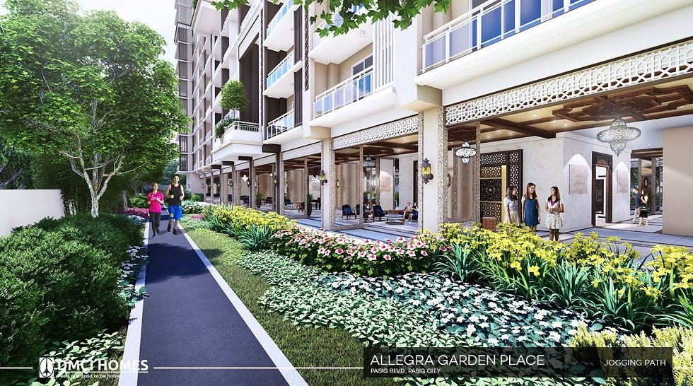 Allegra Garden Place - Jogging Path