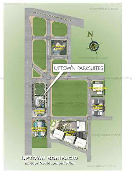 Uptown Parksuites - Location Map