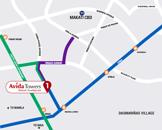 Avida Towers Makati Southpoint - Location & Vicinity