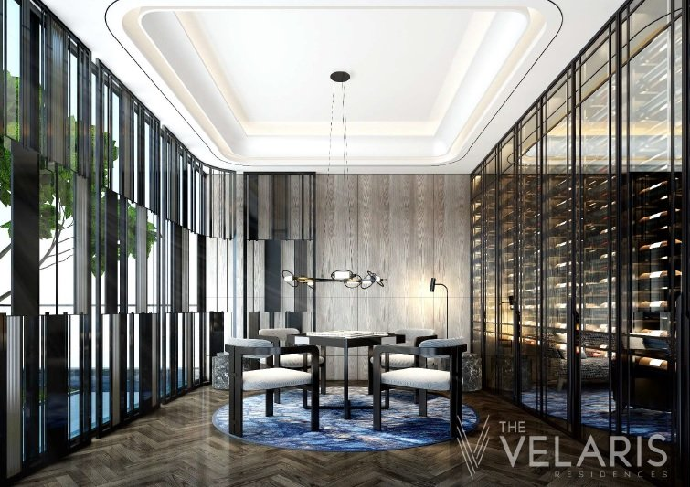 The Velaris Residences - Cards and Wine Room