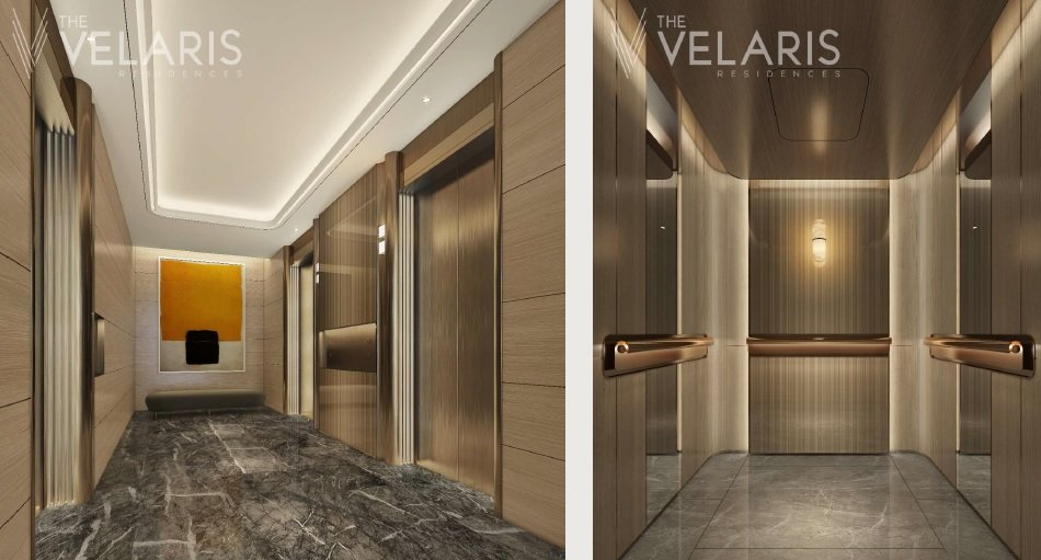 The Velaris Residences - Central Lobby and Lift Car