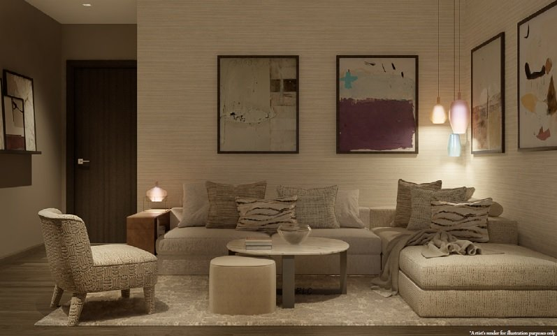 Aurelia Residences - Living Room