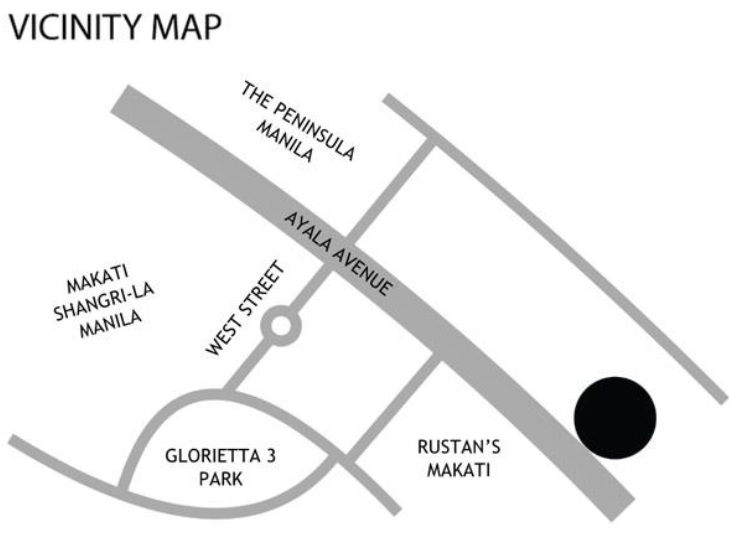 The Estate Makati - Location Map