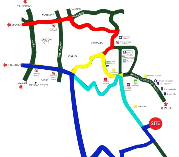 Springdale II At Pueblo Angono - Location Map