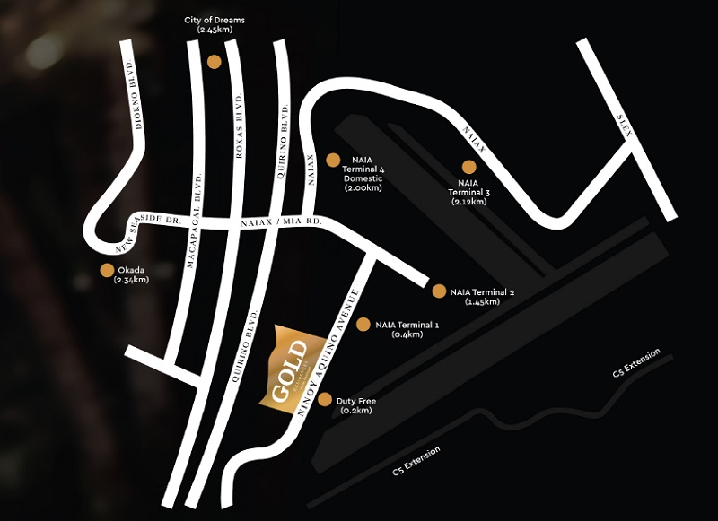 Gold Residences - Location Map