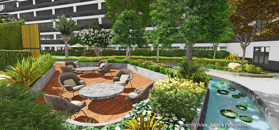 Gold Residences - Landscaped Lounge Area