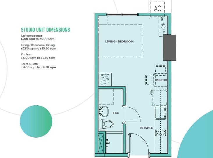 Gateway Regency Studios - Studio Unit