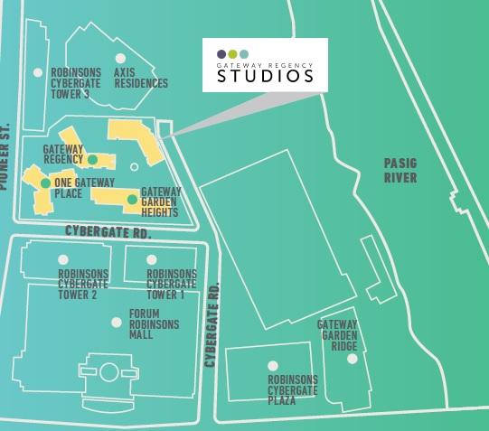 Gateway Regency Studios - Location Map