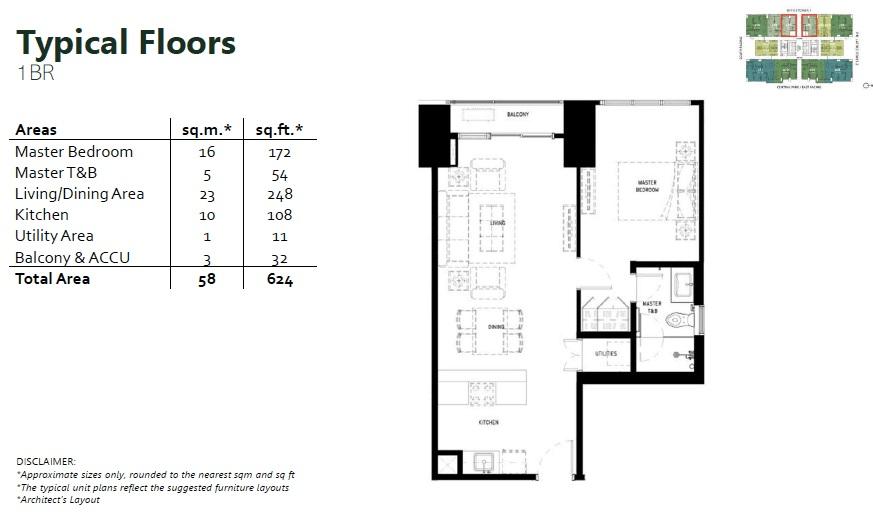 The Lattice Parklinks - 1 Bedroom Unit