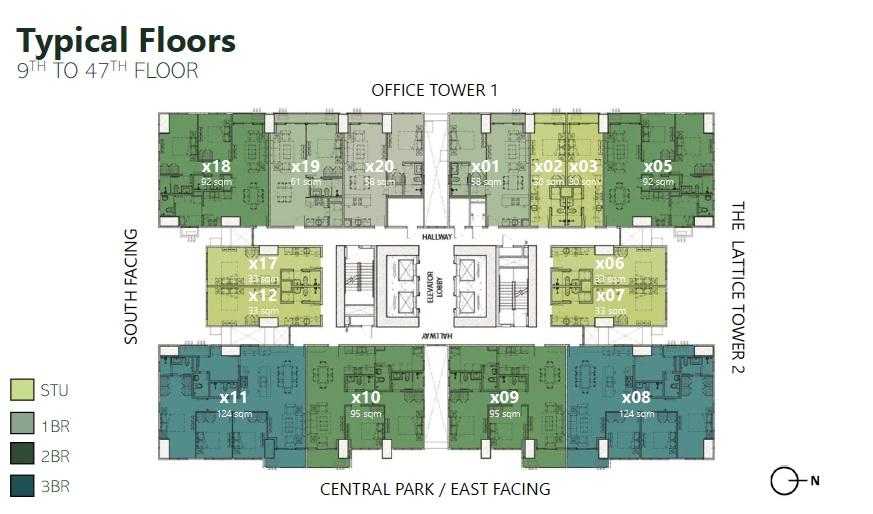 The Lattice Parklinks - Typical Floor Plan