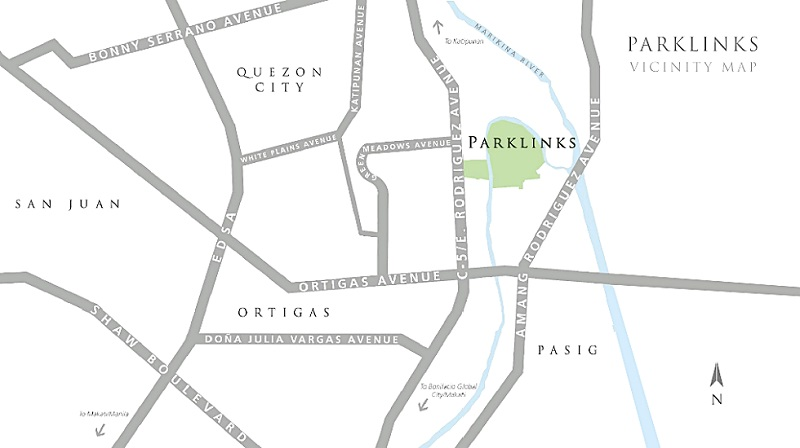 The Lattice Parklinks - Location Map