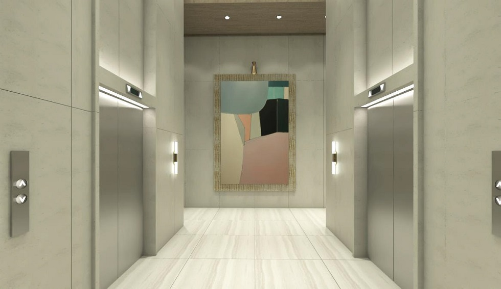 Mergent Residences - Elevator Lobby Area