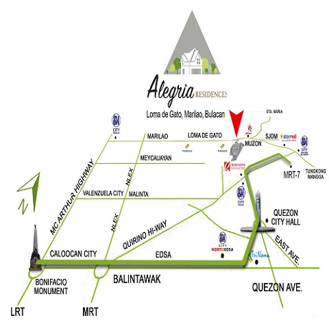 Alegria Residences - Location Map