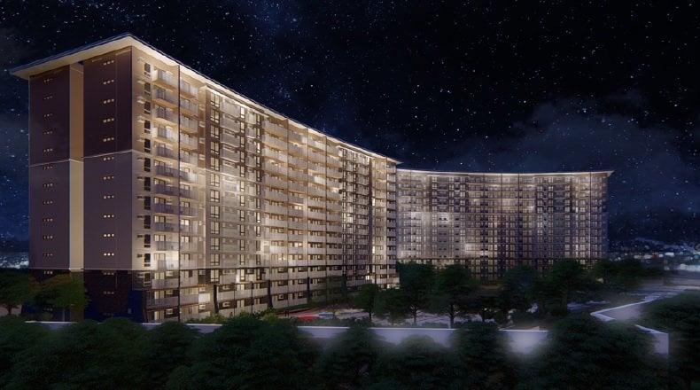 I Land Residences Sucat - Building Facade Night Time