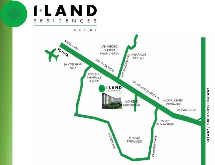 I Land Residences Sucat - Location Map