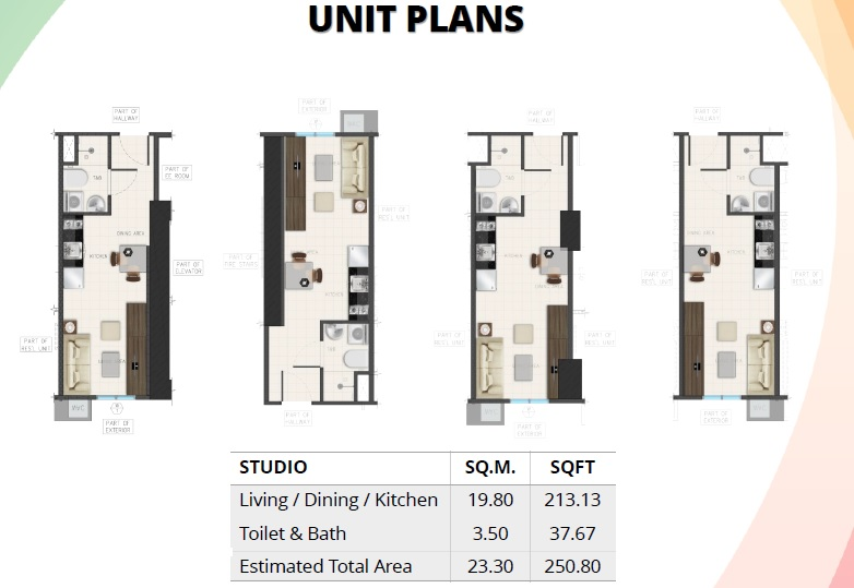 Avida Towers Ardane - Studio Unit Plan