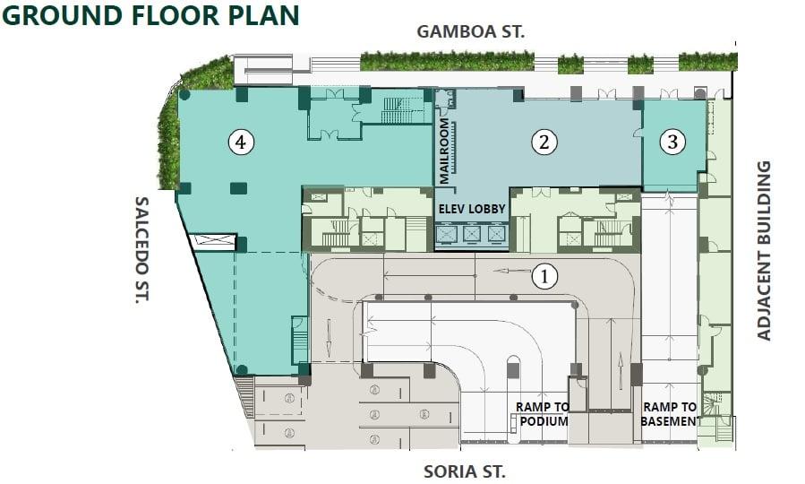 Parkford Suites Legazpi - Ground Floor Plan