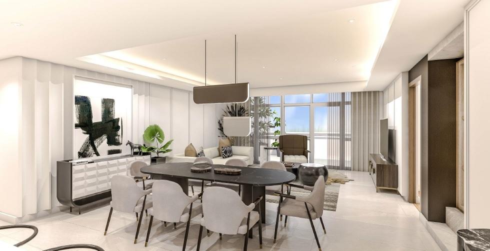 Parkford Suites Legazpi - 3 BR Living Dining Area