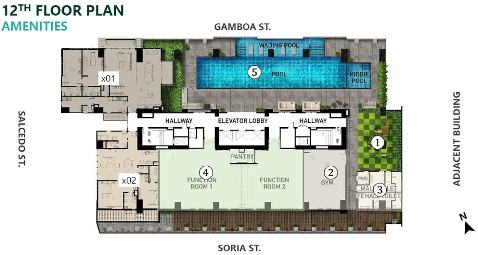 Parkford Suites Legazpi - Amenity Floor Plan