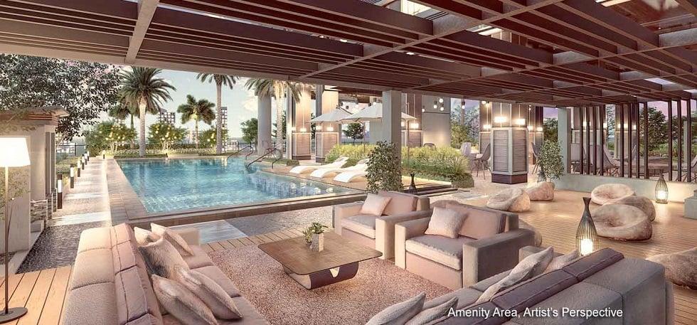 Gem Residences - Lounge Pool