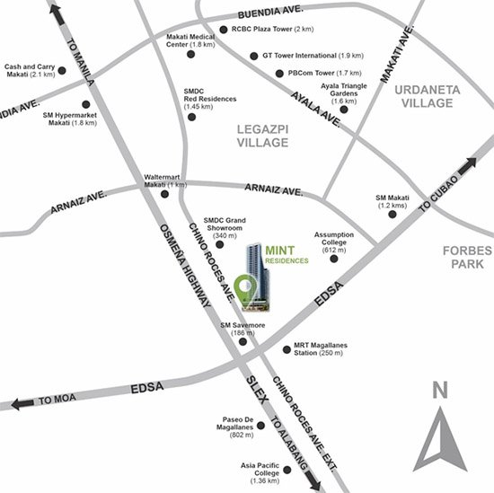 Mint Residences - Location Map