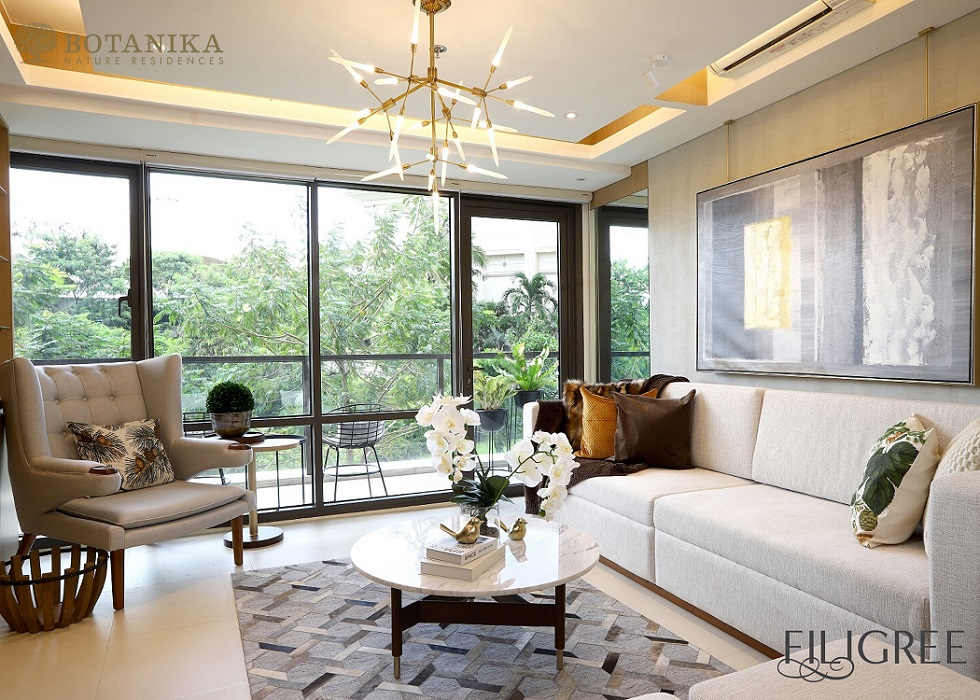 Botanika Nature Residences - 2 BR Living Room