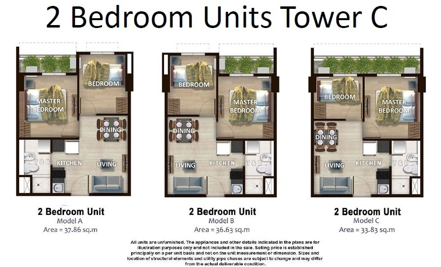 Kirana - 2 Bedroom Unit