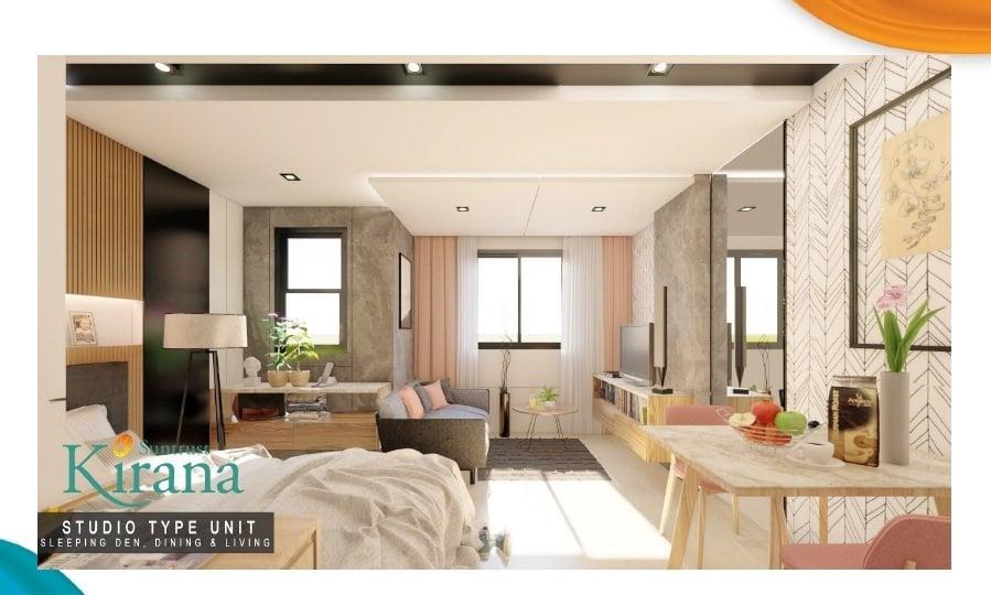 Kirana - Studio Unit - Living and Dining