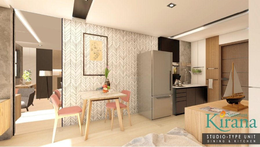 Kirana - Studio Unit - Kitchen and Dining