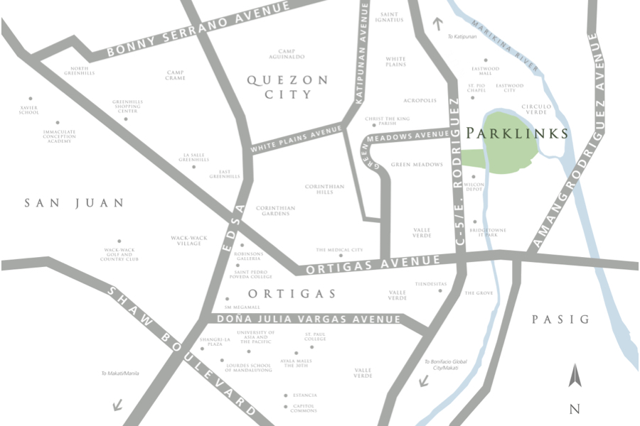 Parklinks North Tower - Location Map