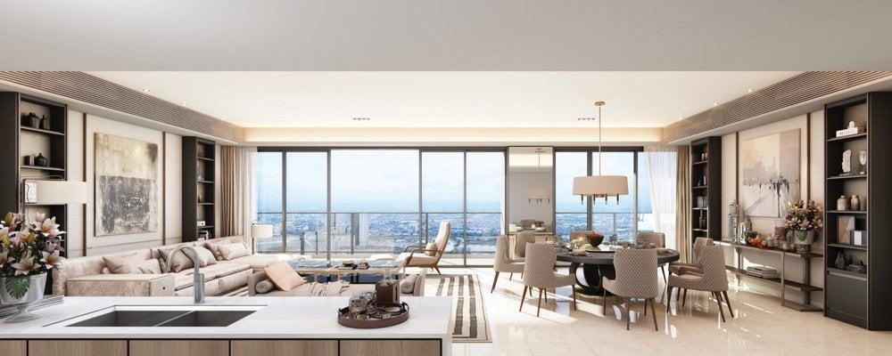 Parklinks North Tower - 4BR Sky Villa Living and Dining