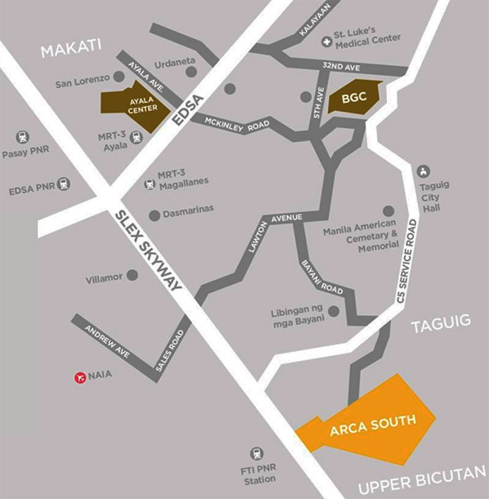 Gardencourt Residences - Location Map
