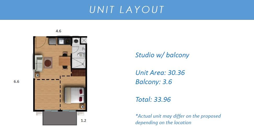 Camella Manors Verdant - Studio Unit