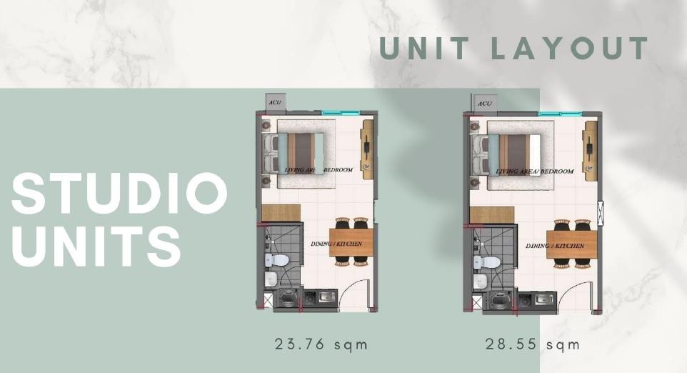 Camella Manors Caloocan - Studio Unit Layout