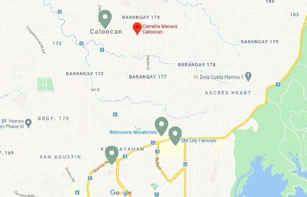 Camella Manors Caloocan - Location Map