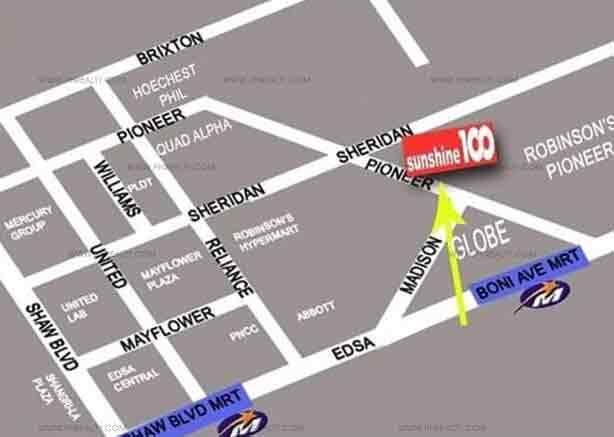 Sunshine 100 City Plaza Pioneer - Location Map