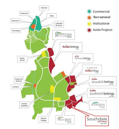 Southdale Settings Nuvali - Location Map