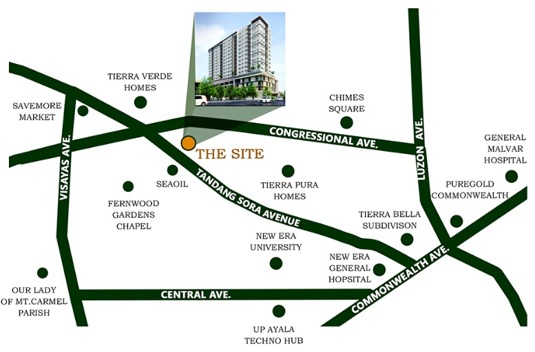 One Tandang Sora Place - Location Map