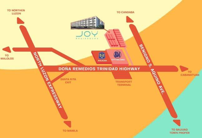 Joy Residences - Location Map