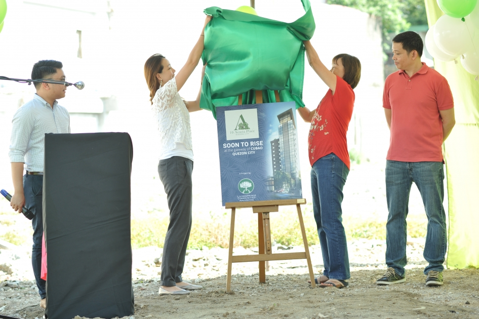 10 Acacia Place Holds Groundbreaking Ceremony in Quezon City